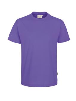 Herren Shirt in Lavendel mit Rundhals-Ausschnitt