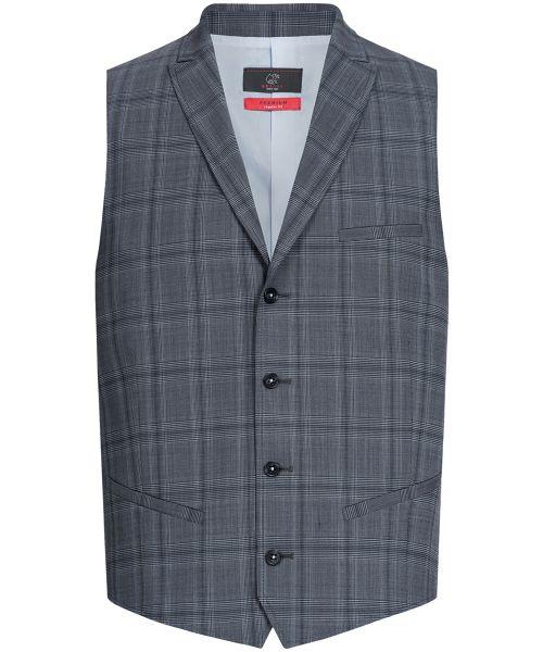 Business Herren Weste regular fit glencheck | GREIFF Premium 1630