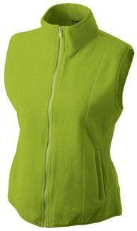 Damen Fleece Weste - hellgrün