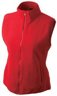 Damen Fleece Weste - rot