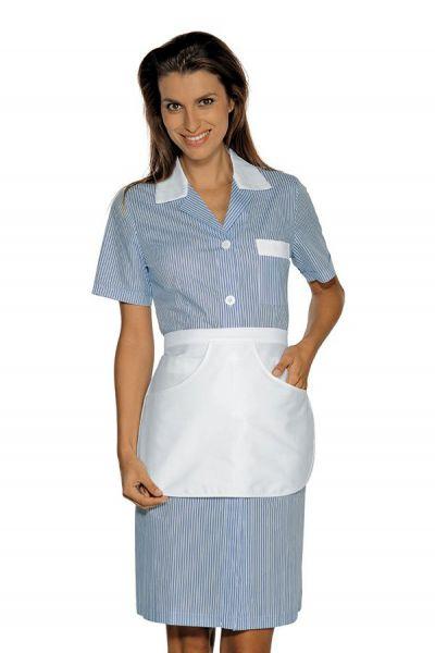 Zimmermädchenkleid blau gestreift mit Schürze Positano isacco
