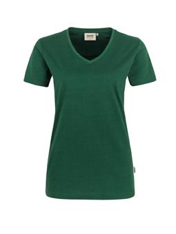 Damen Shirt in Tanne mit V-Ausschnitt