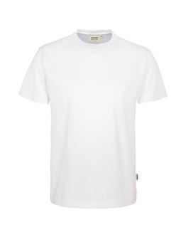 Herren Shirt in Weiß mit Rundhals-Ausschnitt
