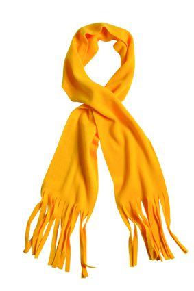 klassischer Fleece Schal gelb