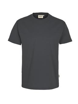Herren Shirt in Anthrazit mit Rundhals-Ausschnitt