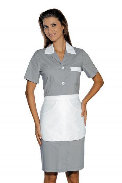 Zimmermädchenkleid grau mit Schürze Positano isacco