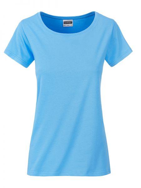 Damen Shirt sky-blue Bio-Baumwolle Tradition Daiber
