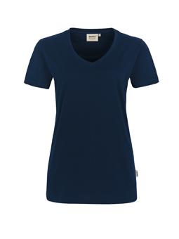 Damen Shirt in Tinte mit V-Ausschnitt