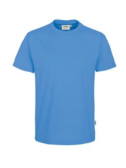 Herren Shirt in Malibublau mit Rundhals-Ausschnitt
