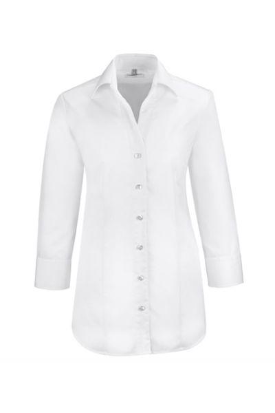GREIFF premium - style 6520 Bluse für Damen 3/4arm in weiß - regular fit