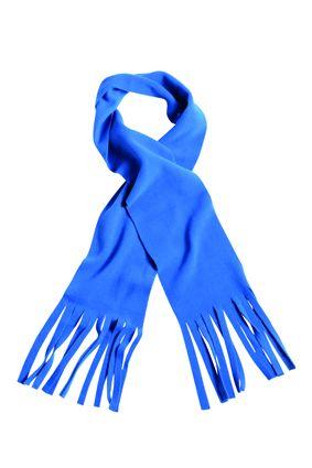 klassischer Fleece Schal blau