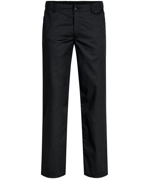 Herren-Hose schwarz mit Gummibund regular fit | GREIFF Basic 110