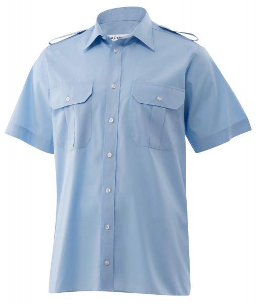 Herren Pilothemd blau slim fit kurzarm Howard KÜMMEL