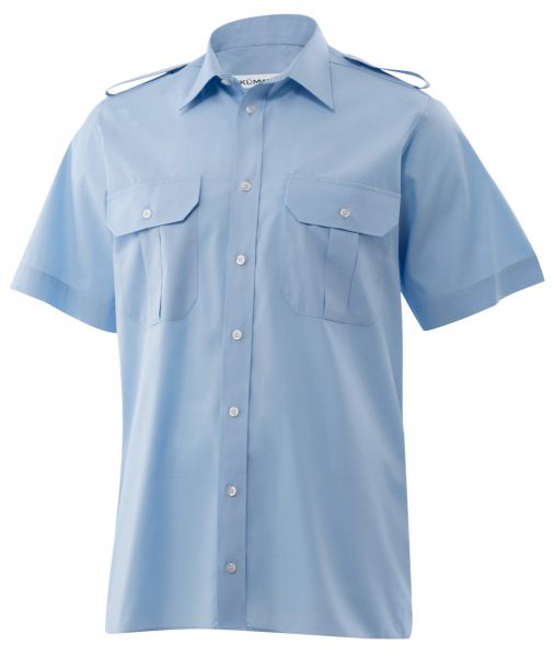 Herren Pilothemd blau classic fit kurzarm Howard KÜMMEL