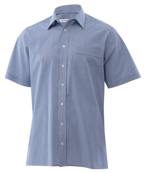 KÜMMEL - Herrenhemd Sergio kurzarm gestreift blau/weiß - classic