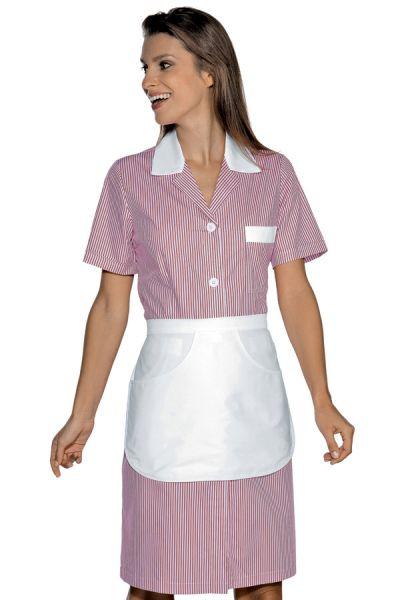 Modernes Zimmermädchenkleid Hauskleid Positano rosa | isacco 008953G