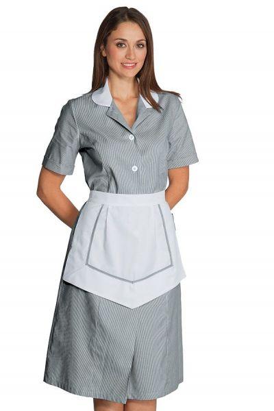 Zimmermädchenkleid grau kurzarm Lipari isacco