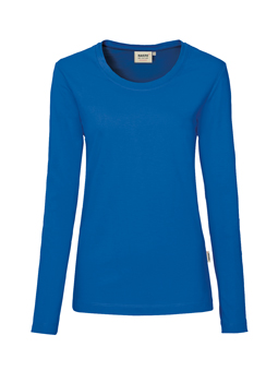 Damen Shirt langarm in Royalblau