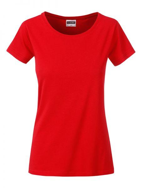 Damen Shirt hellrot Bio-Baumwolle Tradition Daiber