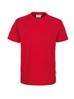 Herren Shirt in Rot mit Rundhals-Ausschnitt