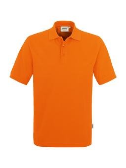 Herren Polo Performance in Orange