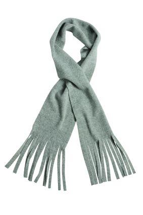 klassischer Fleece Schal grau
