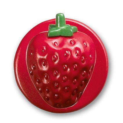 GREIFF - style 5900 Kugelknöpfe für Kochjacken - 12er Pack - Erdbeere