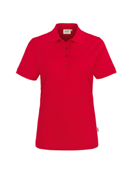 Damen Polo Performance in Rot