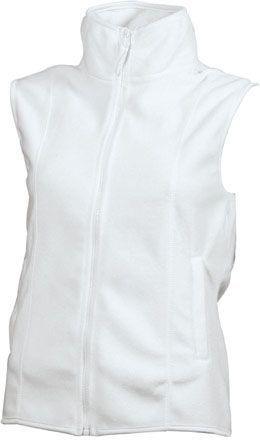 Damen Fleece Weste - weiß