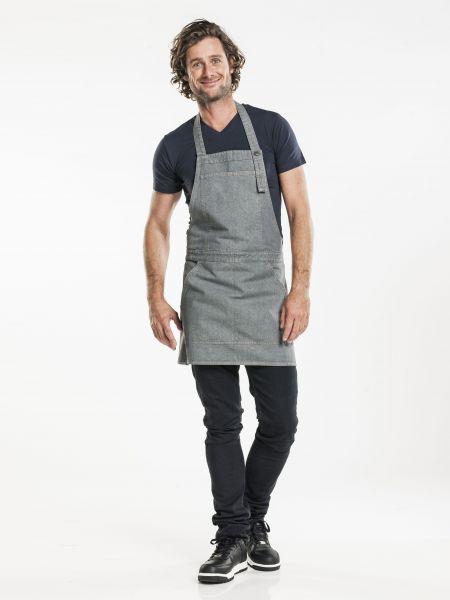 Jeans Schürze - Latzschürze 80 x 70 cm Grey Denim