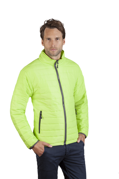 Wattierte Herren Jacke lemon green