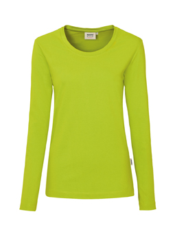 Damen Shirt langarm in Kiwi