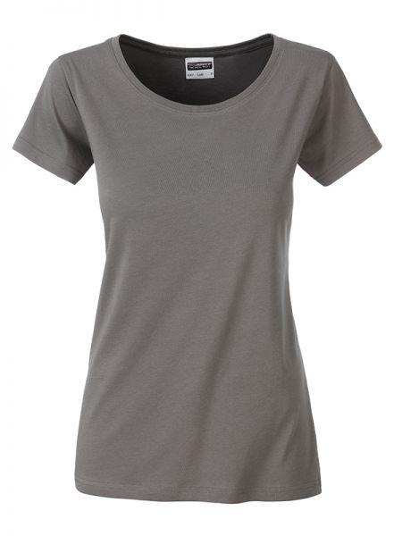 Damen Shirt mid-grey Bio-Baumwolle Tradition Daiber