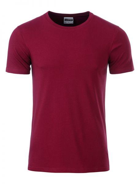 Herren Shirt weinrot Bio-Baumwolle Tradition Daiber