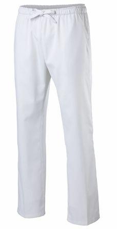 Exner Schlupfhose / Kochhose mit Dehnbund in weiß