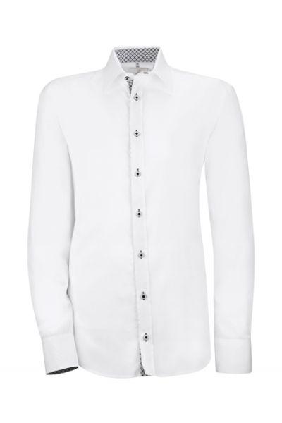 GREIFF modern - style 6663 Herrenhemd langarm mit Besatz - slim fit