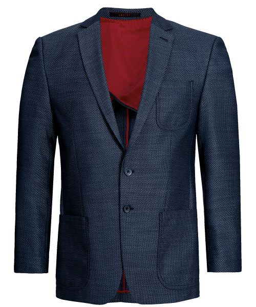Business Herren Sakko regular fit blau strukturiert | GREIFF Casual 1133