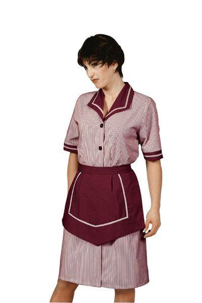 Zimmermädchenkleid bordeaux Amalfi isacco