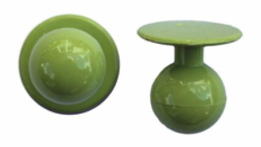Exner Kugelknöpfe lemongreen - 1 Pack mit 12 Stück