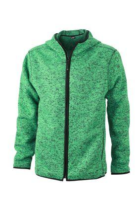 Herren Fleece Hoody green-melange Tradition Daiber