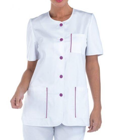 Damenkasack weiß für Arztpraxis & Pflege | Creyconfe ESTEPONA 40308
