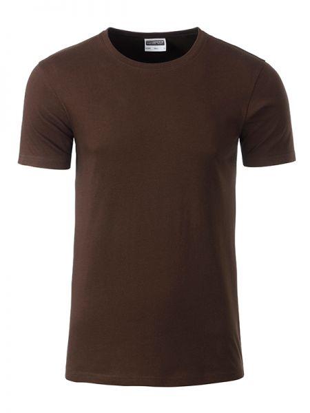 Herren Shirt brown Bio-Baumwolle Tradition Daiber