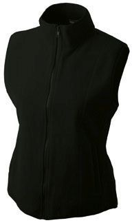 Damen Fleece Weste - schwarz