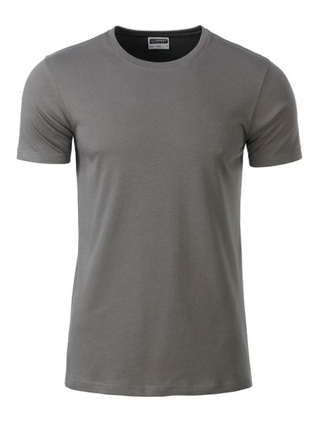 Herren Shirt mid-grey Bio-Baumwolle Tradition Daiber