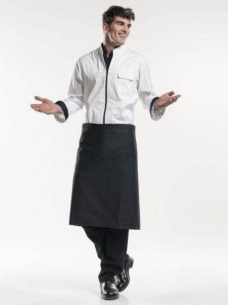 Jeans Schürze black denim - Bistroschürze 100 x 70 cm