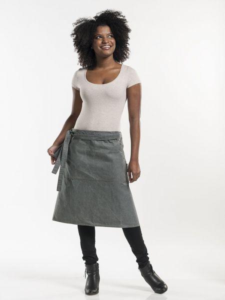 Jeans Schürze - Bistroschürze 80 x 60 cm Grey Denim