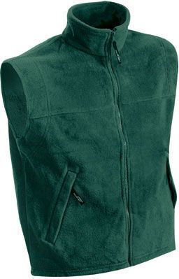 Herren Fleece Weste - dunkelgrün