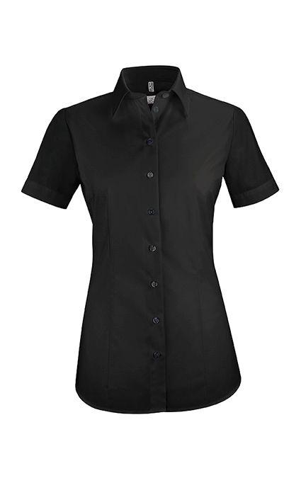 e962aa1907b47e GREIFF 6516 Damen Bluse - BASIC- Regular Fit - kurzarm schwarz   Hemden &  Blusen   Produkte   - Hotel-Uniform.de by Konfektion in Perfektion