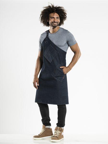 Jeans Schürze blue denim - Latzschürze 85 x 85 cm