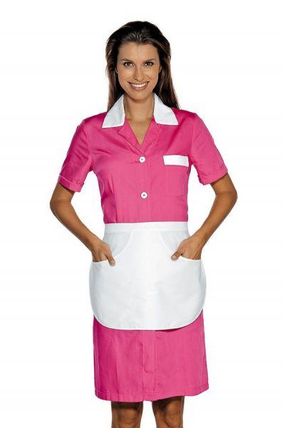 Zimmermädchenkleid rosa mit Schürze Positano isacco